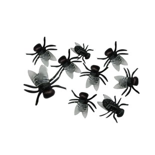 20 PC Halloween Plastic Black Flys Joking Toys Decoration Re