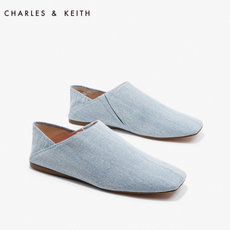 CHARLES&KEITH女士休闲鞋CK1-70390188欧美风方头平底鞋