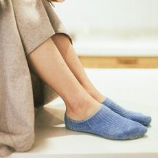 靴下物夏季新品针织棉质船袜日系纯色浅口隐形袜硅胶防掉跟短袜女