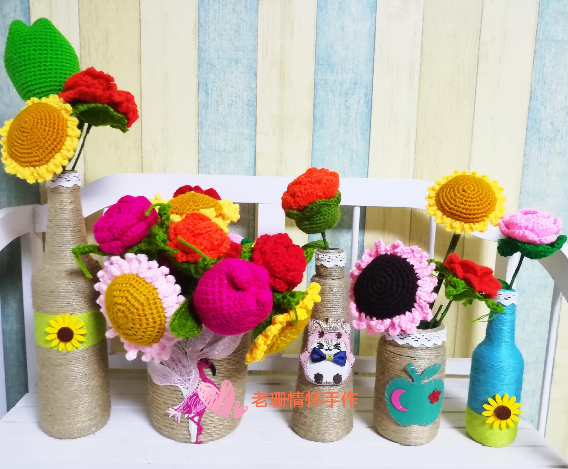 麻绳花瓶玻璃手工小制作 废物利用 环保 变废为宝 环保手工美劳