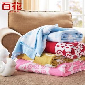 婴儿儿童毛巾被纯棉毯子单双人全棉毛毯秋冬被子四季被毯毛巾