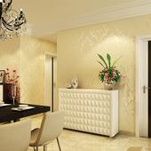客厅卧室3D立体浮雕书房电视背景墙壁纸 家装 环保欧式无纺布墙纸