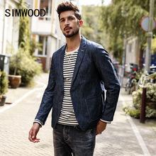 休闲西服男潮 男士 春季新款 修身 Simwood简木男装 欧美一粒扣小西装