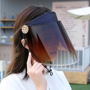 夏季骑车遮阳帽夏天防紫外线女士太阳帽骑电动车防晒时尚帽子空顶遮阳帽