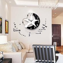 饰现代简约家用静音卧室时钟 钟表挂钟客厅创意潮流个性 大气欧式装