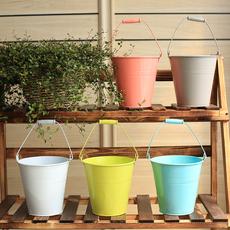彩色铁皮小桶 糖果色花桶家居装饰花盆 新品铁桶迷你铁桌面垃圾桶