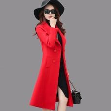 毛呢外套女潮中长款2017秋冬装新款韩版修身显瘦加厚呢子大衣女装