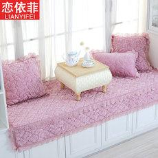 飘窗垫窗台垫卧室欧式阳台垫子防滑榻榻米坐垫定做海绵长毛绒加厚