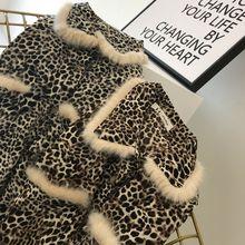 饰豹纹图案长袖 女装 百搭上衣衬衫 2018秋冬欧美新款 毛毛镶边翻领装