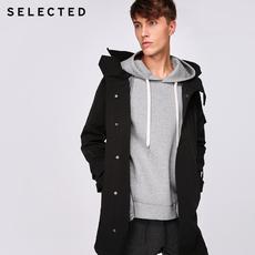 聚SELECTED思莱德新款男士背部腋下透气设计连帽风衣S|417321519