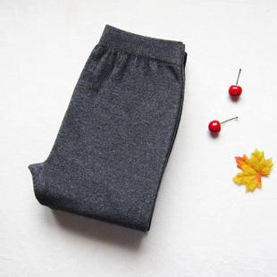 秋冬薄款修身男女士羊毛裤  保暖高腰弹力情侣内穿冬季毛线羊绒裤