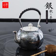 细工坊纯银 银壶银壶烧水壶 纯银999烧水壶银壶 日本煮茶