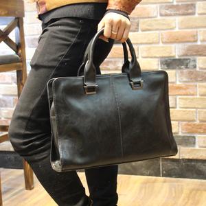 新款真皮手提包男横款韩版单肩斜挎包商务包牛皮公文包电脑包男包男士手包