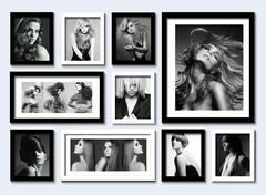 【黑白人物】男女发型服装时尚照片墙 客厅卧室装饰画 发廊有框画