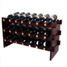 红酒架实木叠加酒架子葡萄酒架摆件欧式酒瓶木架木质酒柜展示架
