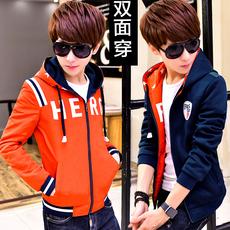青少年春季卫衣男韩版男士外套修身男装学生棒球服青年衣服春秋潮