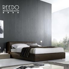 瑞都家具北欧真皮床现代简约双人床1.8米1.5软床婚床储物床皮艺床