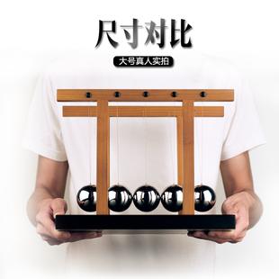 香港九猪牛顿摆球撞球办公室摆件创意高档开业乔迁礼品摆件大招财
