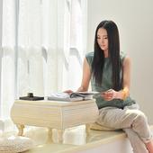 飘窗桌北欧实木榻榻米茶几简约小茶桌阳台桌欧式实木飘窗小茶几