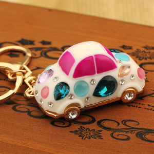 韩国创意礼品水晶水钻可爱甲壳虫汽车钥匙扣女包包挂件钥匙链饰品钥匙扣
