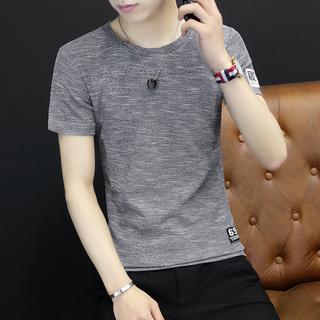 男士短袖t恤男装夏季2017新款圆领修身半袖上衣韩版潮流夏装衣服