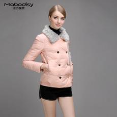 2016冬装新款女装加厚双排扣羽绒服 短款修身鸭绒羽绒棉衣外套女