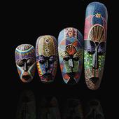 东南亚风格家居饰品挂饰壁饰非洲点彩面具泰国脸谱酒吧会所装饰品
