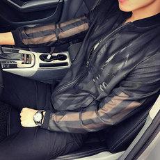 防晒衣服男超薄透气学生韩版日系潮流初中青少年外穿镂空外套网纱