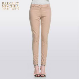 【专柜正品】Badgley Mischka巴吉利米诗卡初春简约通勤修身长裤