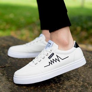 夏季小白鞋透气男鞋帆布鞋运动潮鞋韩版休闲鞋潮流学生鞋白色板鞋
