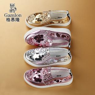 儿童网鞋亮片童鞋公主鞋韩版透气网面板鞋休闲鞋女童运动鞋夏凉鞋