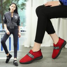 2016冬季新款女棉鞋加绒保暖休闲鞋韩版套脚懒人鞋舒适一脚蹬布鞋