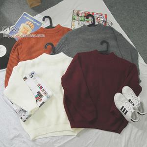 秋冬新款女装韩版基础简约半高领长袖套头针织衫毛衣外套学生上衣羊绒衫女