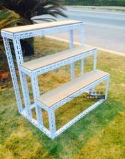 包邮角钢货架 梯形台阶式拆装移动架花店展示架 置物展架花架铁架