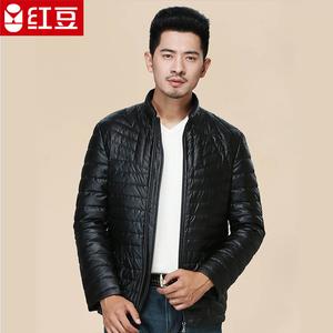 红豆男士羽绒服轻薄立领保暖羽绒服修身韩版商务休闲外套