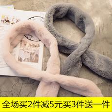 特价冬季新款韩版百搭仿皮草毛领子学生细条长毛保暖围巾加厚围脖