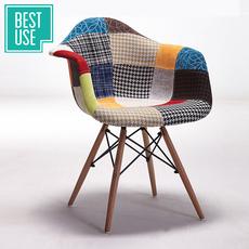 百思宜 北欧伊姆斯椅靠背椅 实木现代简约餐椅复古椅子咖啡厅桌椅