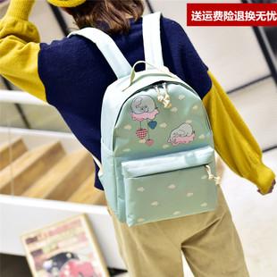 卡通动漫个性印花双肩包女韩版大容量学生旅行背包小清新帆布书包