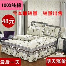纯棉床裙单件床罩床裙夏季韩版床套床笠1.5/1..8席梦思保护套包邮
