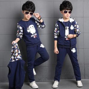 男童套装2017春装儿童休闲三件套8男孩子秋款卫衣6岁童装12韩版11儿童套装