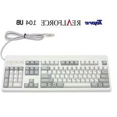 热卖韧锋/Realforce 87u 104u 黑色/白色 静电容键盘 分区压力