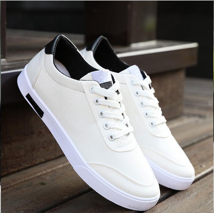免单男鞋夏季白色帆布鞋男低帮小白鞋男布鞋休闲鞋子学生平底板鞋