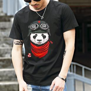 中国风潮牌印花短袖半袖t恤男潮流 学生青年社会半截袖衣服体恤夏