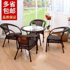 藤椅三件套客厅藤椅子编织靠背椅简约庭院户外休闲椅组合阳台桌椅