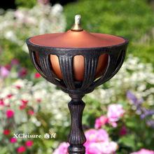 西窗 户外家具 别墅会所庭院景观装饰灯 花园铸铁煤油灯