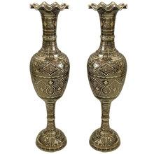 进口一米彩点米尔式瓶巴基斯坦铜器特色海外工艺品铜花瓶家居摆件
