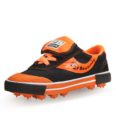 双星 2016春秋季专业训练中小神童男童女童鞋 防滑帆布儿童足球鞋