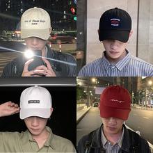 帽子男xt流韩款百搭qp牌嘻哈男士黑色夏季ins棒球帽潮