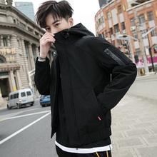 外套男xt秋季201qp韩款潮流ins青少年加绒厚上衣服秋冬装夹克