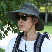 渔夫帽xt士防晒遮阳qp季旅游太阳帽户外登山凉帽爸爸子